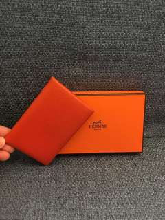 Hermes Card Holder caviar