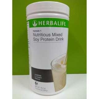 100% Original Herbalife Formula 1 Cookies 'n Cream Canister 550g