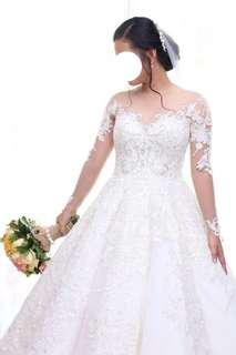 Designer Wedding Gown for rent