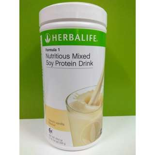 100% Original Herbalife Formula 1 French Vanilla Canister 550g