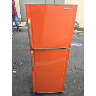 Orange Fridge Peti Ais Samsung