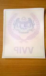 Vvip Car Sticker