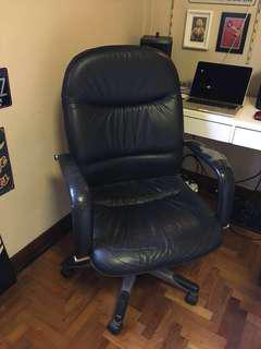 Plush and comfortable leather chair