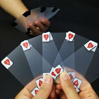 Transparent waterproof playing cards