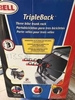 Bell triple back three bike trunk rack. Used once condition 9.8/10
