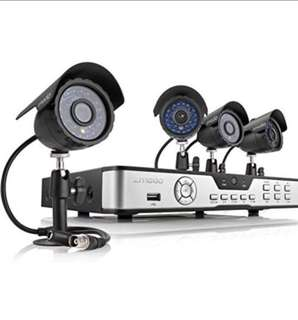 (172) Zmodo PKD-DK4216-500GB H.264 Internet & 3G Phone Accessible 4-Channel DVR with 4 Night Vision Cameras and 500 GB HD