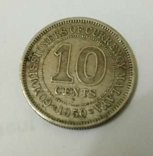 Malaya old coin 1950