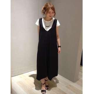 日本購入 日本貴牌LEPSIM簡約百搭無袖背心長洋裝