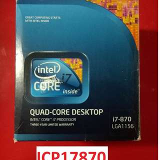For Sale CORE I7 870