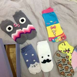 Cute sock set with box 💓