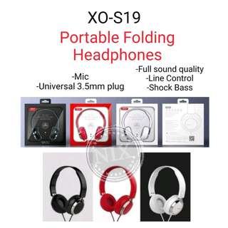 XO S19 Foldable Wired Headset