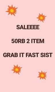 50rb get 2 item