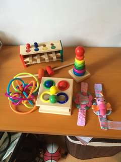 TAKE ALL ASSORTED BABY TOYS