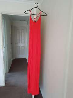 Asos size 6 red/coral dress