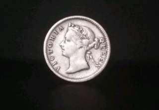 S/S Queen Victoria 5cent 1896.