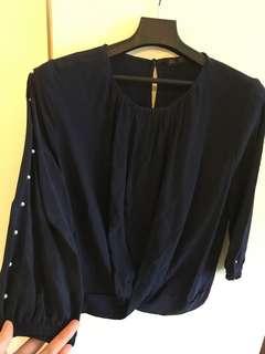 Zara 珍珠袖衫