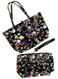 Tote Sling Shoulder 3 in 1 Bag Floral