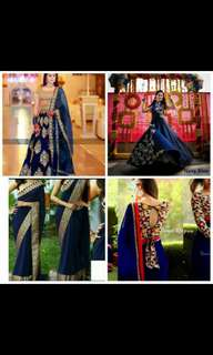 4 combo of 2 lehengha and 2 sarees