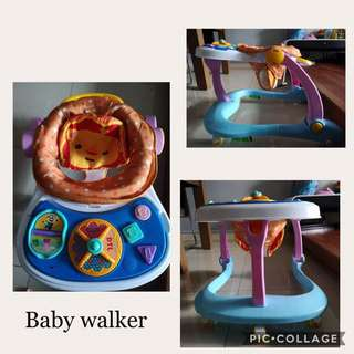1) Bright Starts Safari Smiles Baby Bouncer (Rocker) 2) Sokano 3in1 Baby Walker