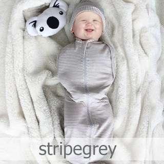 StripeGrey Instant Zip Swaddle