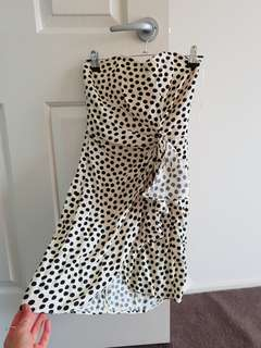 ASOS polka dot print dress
