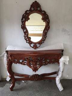 Antique Narra Console set