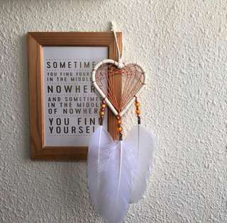 White Heart Dreamcatcher