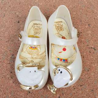 Sepatu Anak Mini Mel Jelly Shoes Beauty and The Beast
