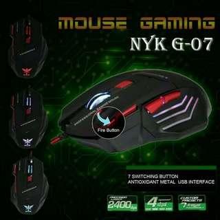 NYK G-07 7D Gaming Mouse Original Garansi resmi 1 tahun