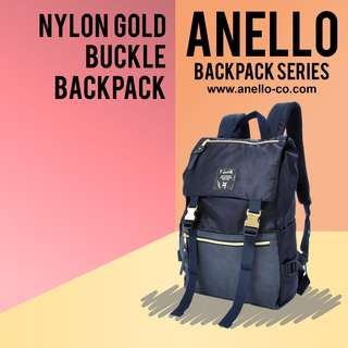 Anello Nylon Gold Buckle Backpack | Anello Backpack Series!