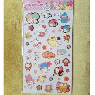 Sanrio Character Stickers (white)