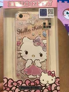 💥全新半價💥Hello Kitty 閃粉流沙iPhone 7/8 Case ~ 原裝正貨