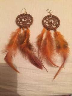 Dream catcher earings