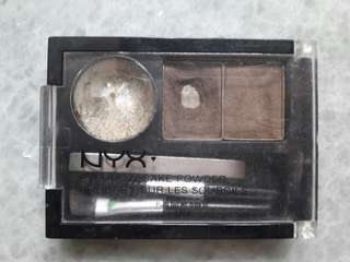 NYX Eyebrow Cake Powder in ECP02 Soft Brown / Brown + Extra Mini Tweezer / Pinset