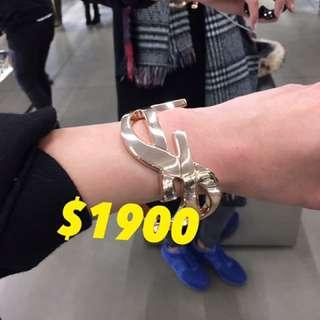 Ysl 銀扼 手扼 手鐲 bracelet