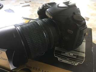 Nikon D80 with kit lens and 70-300mm Lens