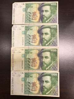 Spain old notes