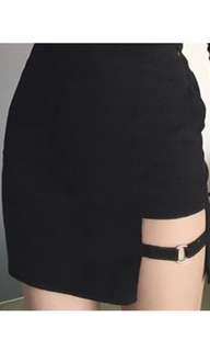 NEW cutout black mini skirt GIA style