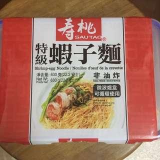 壽桃牌 特級蝦子麵(連微波爐盒)630g