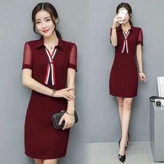 🐋Premium Quality Ribbon Tie dress