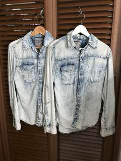 GUESS Couple Jacket/tops - Denim Jacket