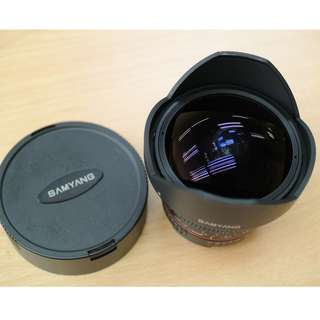 Samyang 8mm f3.5 Fisheye Lens CS 2 (Nikon Mount, Manual)