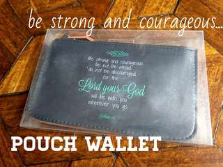 Pouch wallet with scripture