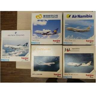 HERPA WINGS 1:500飛機模型大量平售$30起