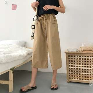 Korea chic high waist loose wide leg pants