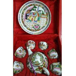 Teapot Teacup Serving Tray Set