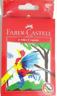 Faber-Castell 6 Silky Crayons