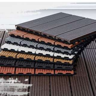 Wooden deck tiles (Easy to Install!)