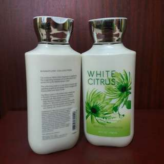 2 White citrus body lotion