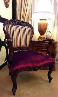 Antique Victorian Era Arm Chairs (  a pair )